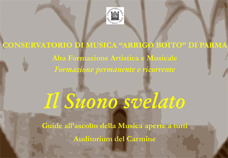Il suono svelato 3 I Concerti del Boito   La voce e il pianoforte: solismo e coralità   26 05 2015